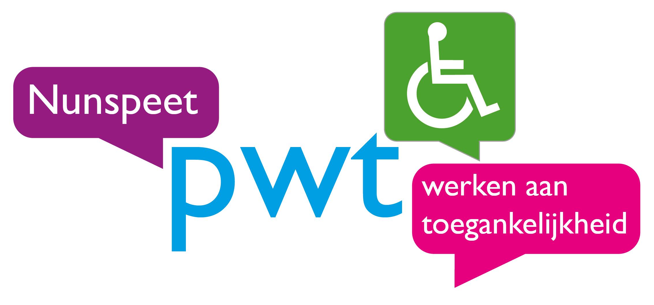 Logo van de werkgroep Plaatselijke Werkgroep Toegankelijkheid.