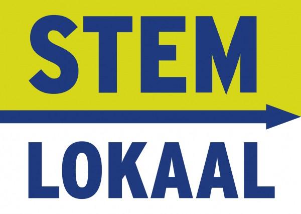 """Afbeelding met de tekst: """"STEMLOKAAL""""/"""