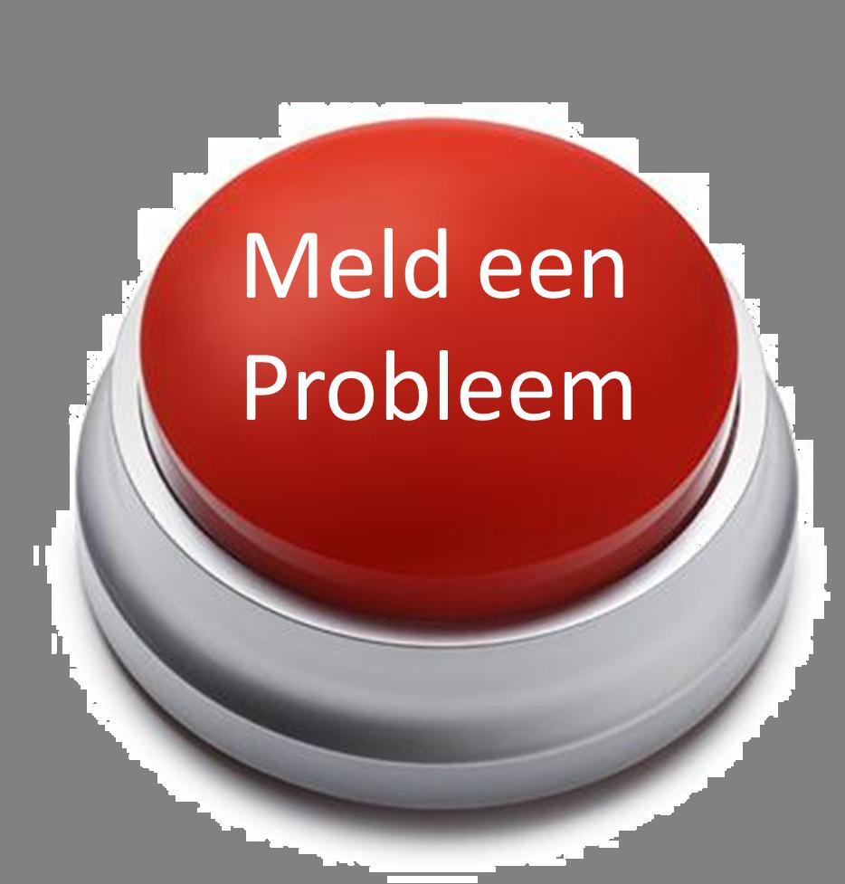 """Afbeelding van een knop met de tekst: """"Meld een probleem!""""."""